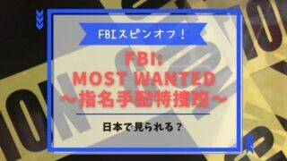 FBI:Most Wanted~指名手配特捜班~ 配信